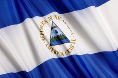 σημαία Νικαράγουα Στοκ Εικόνες