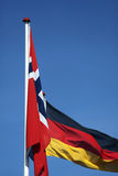 Σημαία. Νορβηγία και Γερμανία Στοκ φωτογραφία με δικαίωμα ελεύθερης χρήσης