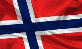 σημαία Νορβηγία Στοκ Εικόνες