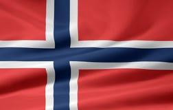 σημαία Νορβηγία Στοκ εικόνες με δικαίωμα ελεύθερης χρήσης