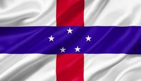 Σημαία Ολλανδικών Αντιλλών που κυματίζει με τον αέρα, τρισδιάστατη απεικόνιση απεικόνιση αποθεμάτων