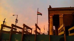 σημαία Ουγγαρία Στοκ Φωτογραφία