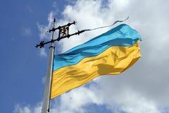 σημαία Ουκρανία Στοκ εικόνα με δικαίωμα ελεύθερης χρήσης