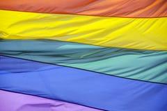 Σημαία ουράνιων τόξων Στοκ φωτογραφίες με δικαίωμα ελεύθερης χρήσης