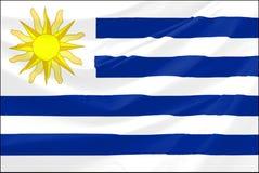 σημαία Ουρουγουάη Στοκ εικόνα με δικαίωμα ελεύθερης χρήσης