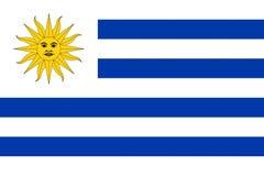 σημαία Ουρουγουάη Στοκ Εικόνες