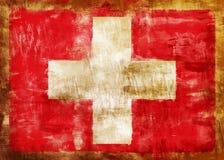 σημαία παλαιός χρωματισμέν& απεικόνιση αποθεμάτων