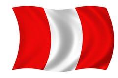 σημαία Περού Στοκ φωτογραφία με δικαίωμα ελεύθερης χρήσης