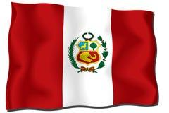 σημαία Περού Στοκ εικόνα με δικαίωμα ελεύθερης χρήσης