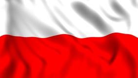 Σημαία Πολωνία που κυματίζει στον αέρα ελεύθερη απεικόνιση δικαιώματος