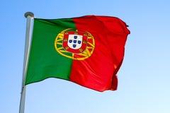 σημαία πορτογαλικά Στοκ εικόνα με δικαίωμα ελεύθερης χρήσης