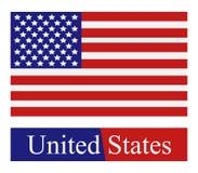Σημαία που διευκρινίζεται αμερικανική Στοκ Εικόνα