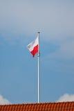 σημαία Πολωνία Στοκ εικόνα με δικαίωμα ελεύθερης χρήσης