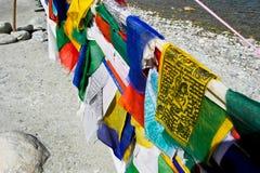Σημαία προσευχής στην περιοχή Ladakh Στοκ φωτογραφία με δικαίωμα ελεύθερης χρήσης