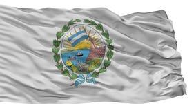 Σημαία πόλεων του Ροσάριο, Αργεντινή, που απομονώνεται στο άσπρο υπόβαθρο διανυσματική απεικόνιση