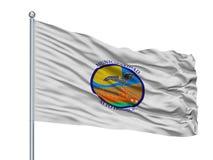 Σημαία πόλεων Hospicio Alto στο κοντάρι σημαίας, Χιλή, που απομονώνεται στο άσπρο υπόβαθρο ελεύθερη απεικόνιση δικαιώματος