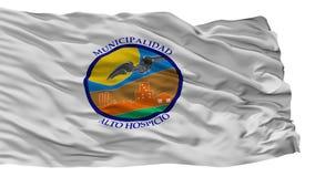 Σημαία πόλεων Hospicio Alto, Χιλή, που απομονώνεται στο άσπρο υπόβαθρο απεικόνιση αποθεμάτων