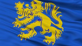 Σημαία πόλεων Zottegem, Βέλγιο, άποψη κινηματογραφήσεων σε πρώτο πλάνο Απεικόνιση αποθεμάτων