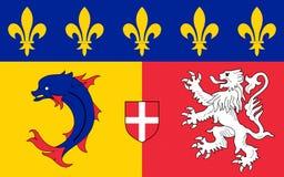 Σημαία Ροδανός-Alpes, Γαλλία στοκ εικόνες με δικαίωμα ελεύθερης χρήσης