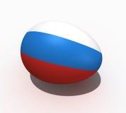 σημαία Ρωσία αυγών Πάσχας απεικόνιση αποθεμάτων