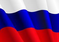 σημαία Ρωσία Στοκ φωτογραφίες με δικαίωμα ελεύθερης χρήσης