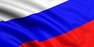 σημαία Ρωσία Στοκ Φωτογραφίες