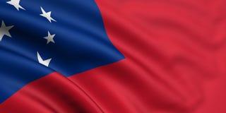 σημαία Σαμόα Στοκ Φωτογραφίες