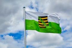 Σημαία Σαξωνία κρατικών υπηρεσιών στοκ εικόνες