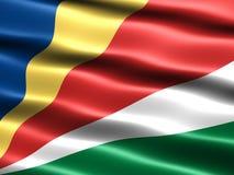 σημαία Σεϋχέλλες Στοκ Φωτογραφίες