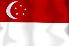 σημαία Σινγκαπούρη Στοκ Φωτογραφία