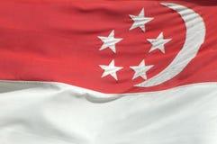 σημαία Σινγκαπούρη Στοκ εικόνα με δικαίωμα ελεύθερης χρήσης