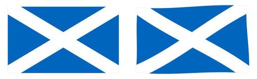 σημαία Σκωτία Απλός και έκδοση ελαφρώς κυματισμού ελεύθερη απεικόνιση δικαιώματος