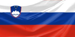 σημαία Σλοβενία Στοκ φωτογραφίες με δικαίωμα ελεύθερης χρήσης