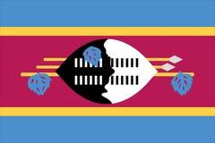 σημαία Σουαζηλάνδη Στοκ Φωτογραφία