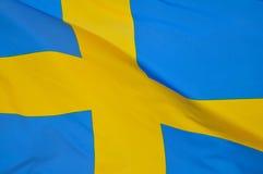 σημαία σουηδικά Στοκ Φωτογραφία
