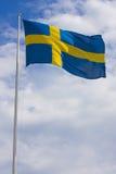 σημαία σουηδικά Στοκ φωτογραφία με δικαίωμα ελεύθερης χρήσης