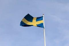 σημαία Σουηδία Στοκ εικόνα με δικαίωμα ελεύθερης χρήσης