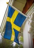 σημαία Σουηδία Στοκ φωτογραφίες με δικαίωμα ελεύθερης χρήσης