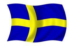 σημαία σουηδικά Στοκ εικόνα με δικαίωμα ελεύθερης χρήσης