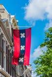 Σημαία στις οδούς του Άμστερνταμ, Κάτω Χώρες Στοκ εικόνες με δικαίωμα ελεύθερης χρήσης