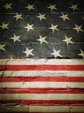 Σημαία στον τοίχο στοκ φωτογραφία