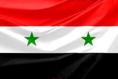 σημαία Συρία Στοκ εικόνα με δικαίωμα ελεύθερης χρήσης
