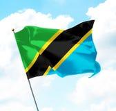σημαία Τανζανία Στοκ φωτογραφία με δικαίωμα ελεύθερης χρήσης