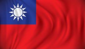 σημαία Ταϊβάν Στοκ Φωτογραφίες
