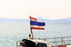 Σημαία Ταϊλανδός στη βάρκα Στοκ Φωτογραφίες