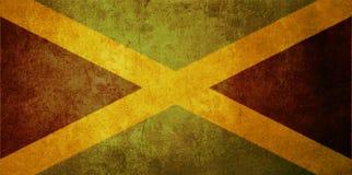 σημαία Τζαμάικα διανυσματική απεικόνιση
