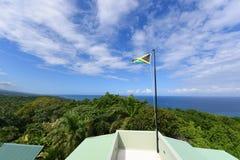 σημαία Τζαμάικα Στοκ Φωτογραφίες