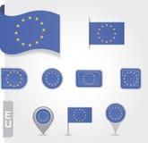 Σημαία της ένωσης της Ευρώπης Στοκ φωτογραφία με δικαίωμα ελεύθερης χρήσης