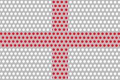 Σημαία της Αγγλίας στο μέταλλο Στοκ φωτογραφία με δικαίωμα ελεύθερης χρήσης