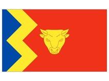 Σημαία της αγγλικής πόλης του Μπέρμιγχαμ ελεύθερη απεικόνιση δικαιώματος